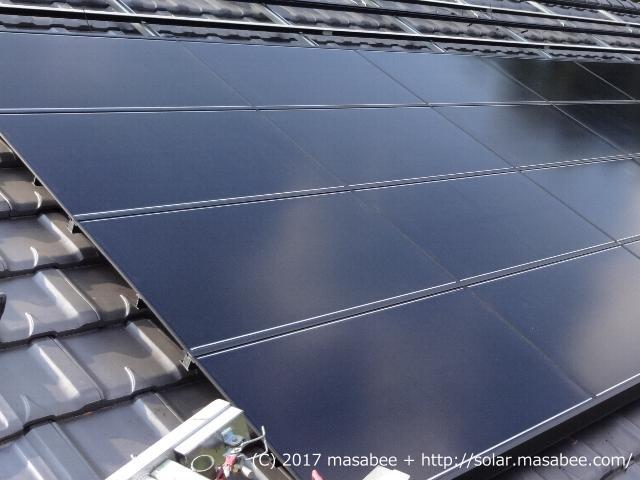 太陽光パネル設置状況(4段目まで)