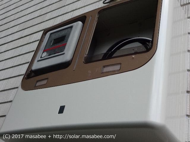 買電及び売電用のメーターボックス